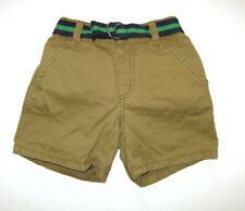 Gymboree baby boys EUC hop to it khaki tan belted shorts 18-24 mo months