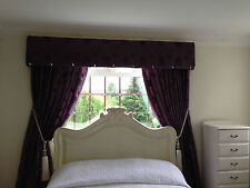DESIGNER CURTAINS WITH HANDSEWN BUKHRAM PELMET WITH CRYSTALS