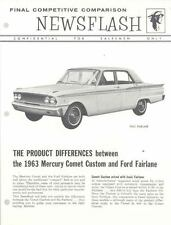 1963 Mercury Comet Vs Ford Fairlane Salesman's Brochure 152970-OLWZH7