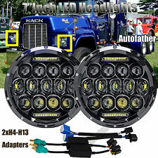 2x7''Inch Round LED Headlights Hi/Lo Beam DRL H4 H13 150W For Mack R Series Lamp