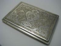 ARABIC ISLAMIC HANDCRAFTED PERSIAN SOLID SILVER CIGARETTE CASE 84 Silver ca1900s