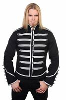 Banned Military Drummer Jacket Black Parade Jacket Goth Punk Adam Ant VTG Style