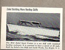 1958 Magazine Photo Zobel 26 Ft Sport Cruiser Boats Sea Bright,NJ
