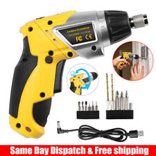Electric Cordless Screwdriver Household Battery Drill Driver Rechargeable w/Led