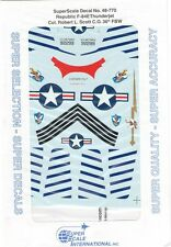 Super Scale Decals 1:48 Republic F-84E Thunderjet Col. Robert L. Scott 48-770
