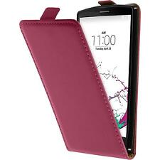 Artificial Leather Case for LG G4s / G4 Beat Flip-Case hot pink