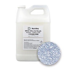 1 Gallon(7 Lbs) Pure & Safe Premium White Silica Gel Beads - Rechargeable