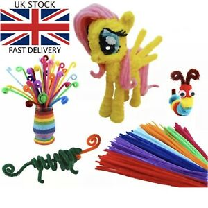 """Chenile Craft Stems Pipe Cleaners 30cm 12"""" Kids- Lots of Colours & Pack Sizes UK"""