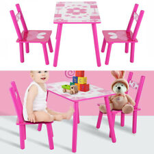 3pcs Kids Table and 2 Chairs Dining Set For Toddler Baby Gift Desk Furniture NEW
