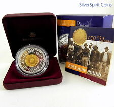 2002 $10 ADELAIDE POUND 60.5g  SILVER GOLD Plated Proof Coin