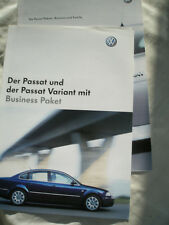 VW Passat & Passat Variant Business brochure Dec 2002 German text