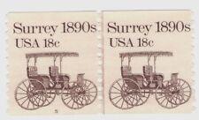 Scott #1907, Plate #5 Coil Line Pair 1981 Surrey 1890s 18c Fvf Mnh