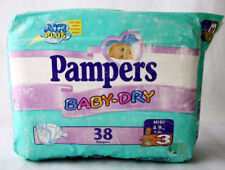 RARE VINTAGE 90'S PAMPERS 38 BABY DRY MIDI 4-9kg 9-20 lbs GERMANY NEW SEALED !