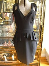 NWOT ASOS LIPSY LONDON BLACK PEPLUM DRESS US8 UK12
