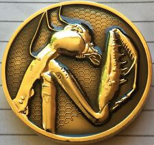 Australian Praying Mantis Medallion Coin Collectable 40mm x 4mm In Coin Pouch