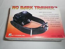 D.T. Systems No Bark Dog Training Collar No. 145DT with Box and Manuals