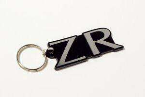MG ZR Keyring - Brushed Chrome Effect Classic Car Keytag / Keyfob