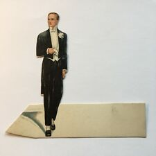 Vintage Art Deco Place Card Wedding Groom w/ Hankie 1920s Unused, Clark
