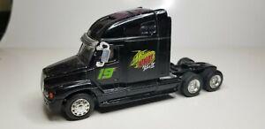 RARE Action Mountain Dew Pitch Black 2 Semi Trailer Truck Racing Team 19 Black