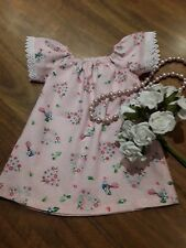 handmade baby dress size 00 cotton. pink
