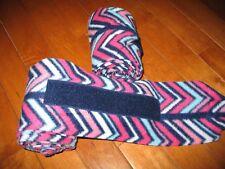 New set of 2 navy/pink/white chevron horse polo wraps (horse/pony leg wraps)