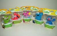 "Lot of 5 Playskool Sesame Street Friends PVC Figures Cake Toppers 3"" NIP"