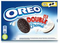 170g Oreo Double Creme Cocoa Flavoured Sandwich Vegetarian Biscuits 6x2 Cookies