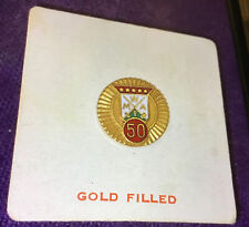 Vintage MWA Modern Woodmen of America 50 Years Lapel Pin Gold Filled. NRFB. A++