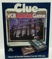 Vintage Clue VCR Mystery Game Parker Brothers 1985 Detective Crime Complete EUC