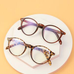 Blue Light Blocking Glasses for Women Men Round Retro Flat Mirror Eyewear