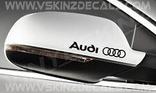 AUDI Logo Premium Mirror Decals Stickers TT S3 S4 S5 A3 A4 A5 Q5 S-line Quattro