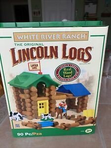 Lincoln Logs White River Ranch #0814259 90-Pieces ToySet-Missing Cow, Dog ,Horse