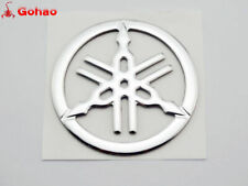 4x 40mm Tuning Fork Badge Emblems Decal For Yamaha Gas Tank Fairing Fender Side