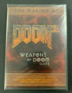 2005 THE MAKING OF DOOM 3 WEAPONS OF DOOM GUIDE PROMO NEW FACTORY SEALED 81921