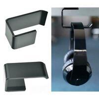 Headphone Stand Hanger Hook Tape Under Desk Dual Headset Holder Tool Mount S7O4