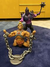 MOTUC Masters Of The Universe CLASSICS - LODAR and HE-MAN - 100% - DISPLAY ONLY