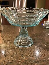 Jeanette Glass Louisa Blue Compote