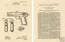 Fn 1903 Auto Pistol Browning Us Patent Ready To Frame! Print Gun 32 John