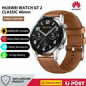 Huawei Watch GT 2 Classic 46mm Smartwatch Fitness Tracker Trainer - Pebble Brown