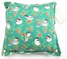 BALSAM FIR PILLOW green CHICKADEE birds pine cones scented sachet lodge