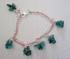 "Russian Amazonite Nugget Cluster Two Colour Chain 6"" to 8"" Bracelet."