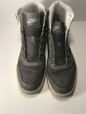 MEN NIKE DELTA FORCE HIGH TOP GREY LEATHER SIZE US 12 #370424-021. 2011 No Laces