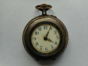 alte Damen-Taschenuhr im 800-er Silbergehäuse    (05)