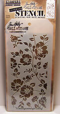 Floral Design Layering Stencil Stampers Anonymous Tim Holtz Collection THS077