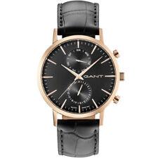 GANT W11213 Park Hill Rose Gold Black Leather Men s Watch c4ccfc0ef00