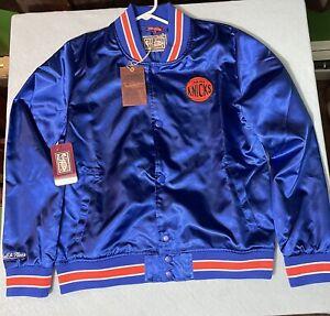 New York Knicks Hardwood Classics Mitchell and Ness Satin Jacket Womens Size S