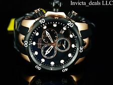 Invicta Men's 52mm Reserve Venom Swiss Chronograph Rose Tone Black Dial SS Watch