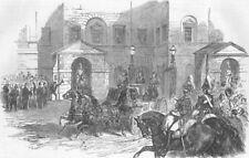 MILITARIA. Reception of the Turkish Ambassador, , antique print, 1854