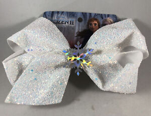 Disney Frozen 2 Girls Bow Clip Elsa Anna Snow Sparkle Hair Bow Accessories 7""