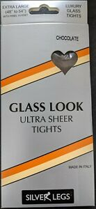Silver Legs Ultra Sheer Glass Translucent Italian Tights (O/S & XL) 5 Colours